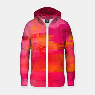 "Imagen en miniatura de ""Abstract brushstrokes in pastel pinks and oranges decorative pattern"" Sudadera con capucha y cremallera de algodón , Live Heroes"