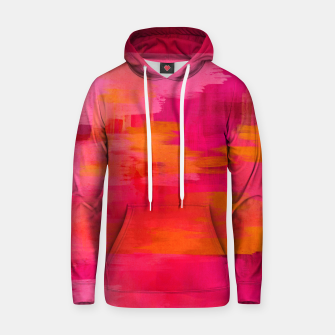 "Imagen en miniatura de ""Abstract brushstrokes in pastel pinks and oranges decorative pattern"" Sudadera con capucha de algodón, Live Heroes"