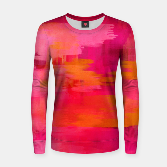 "Imagen en miniatura de ""Abstract brushstrokes in pastel pinks and oranges decorative pattern"" Sudadera de algodón para mujer, Live Heroes"