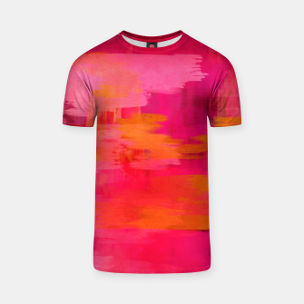 "Miniaturka ""Abstract brushstrokes in pastel pinks and oranges decorative pattern"" Camiseta, Live Heroes"