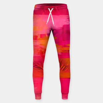 "Imagen en miniatura de ""Abstract brushstrokes in pastel pinks and oranges decorative pattern"" Pantalones de chándal de algodón, Live Heroes"