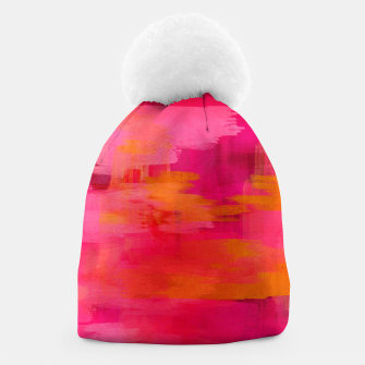 "Imagen en miniatura de ""Abstract brushstrokes in pastel pinks and oranges decorative pattern"" Gorro, Live Heroes"