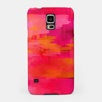 "Miniaturka ""Abstract brushstrokes in pastel pinks and oranges decorative pattern"" Carcasa por Samsung, Live Heroes"