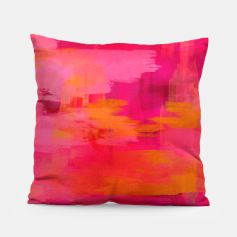 "Imagen en miniatura de ""Abstract brushstrokes in pastel pinks and oranges decorative pattern"" Almohada, Live Heroes"