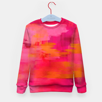 "Imagen en miniatura de ""Abstract brushstrokes in pastel pinks and oranges decorative pattern"" Sudadera para niños, Live Heroes"