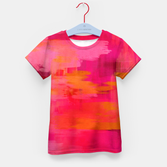 "Imagen en miniatura de ""Abstract brushstrokes in pastel pinks and oranges decorative pattern"" Camiseta para niños, Live Heroes"