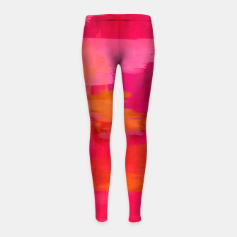 "Imagen en miniatura de ""Abstract brushstrokes in pastel pinks and oranges decorative pattern"" Leggings para niña, Live Heroes"