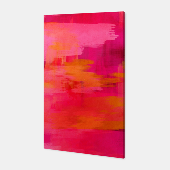 "Imagen en miniatura de ""Abstract brushstrokes in pastel pinks and oranges decorative pattern"" Canvas, Live Heroes"