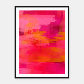 "Imagen en miniatura de ""Abstract brushstrokes in pastel pinks and oranges decorative pattern"" Cartel con marco, Live Heroes"