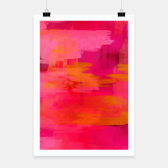 "Imagen en miniatura de ""Abstract brushstrokes in pastel pinks and oranges decorative pattern"" Cartel, Live Heroes"