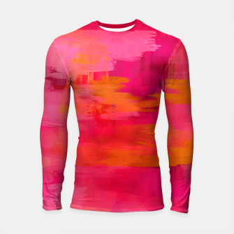 "Miniaturka ""Abstract brushstrokes in pastel pinks and oranges decorative pattern"" Longsleeve rashguard, Live Heroes"