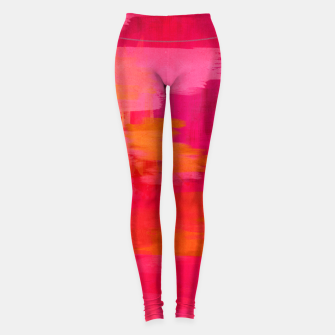 "Imagen en miniatura de ""Abstract brushstrokes in pastel pinks and oranges decorative pattern"" Leggings, Live Heroes"