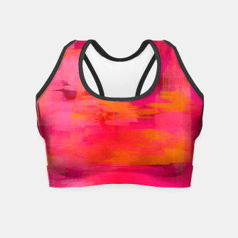 "Imagen en miniatura de ""Abstract brushstrokes in pastel pinks and oranges decorative pattern"" Crop Top, Live Heroes"