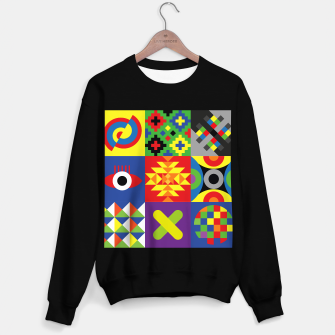 Miniatur Colorful POPART WALL geometric symbols & patterns v.01 #tomK Bluza standard, Live Heroes