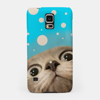 "Miniaturka ""Fun Kitty and Polka dots""  Carcasa por Samsung, Live Heroes"