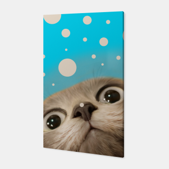 "Imagen en miniatura de ""Fun Kitty and Polka dots""  Canvas, Live Heroes"