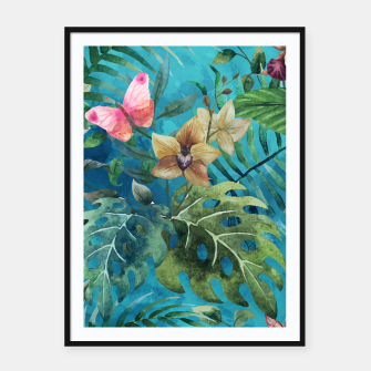 Thumbnail image of Pink Butterfly Framed poster, Live Heroes