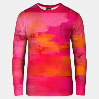 "Miniaturka ""Abstract brushstrokes in pastel pinks and oranges decorative pattern"" Sudadera de algodón, Live Heroes"