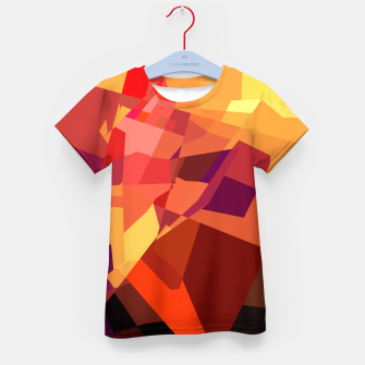 Miniatur Abstract Kid's t-shirt, Live Heroes