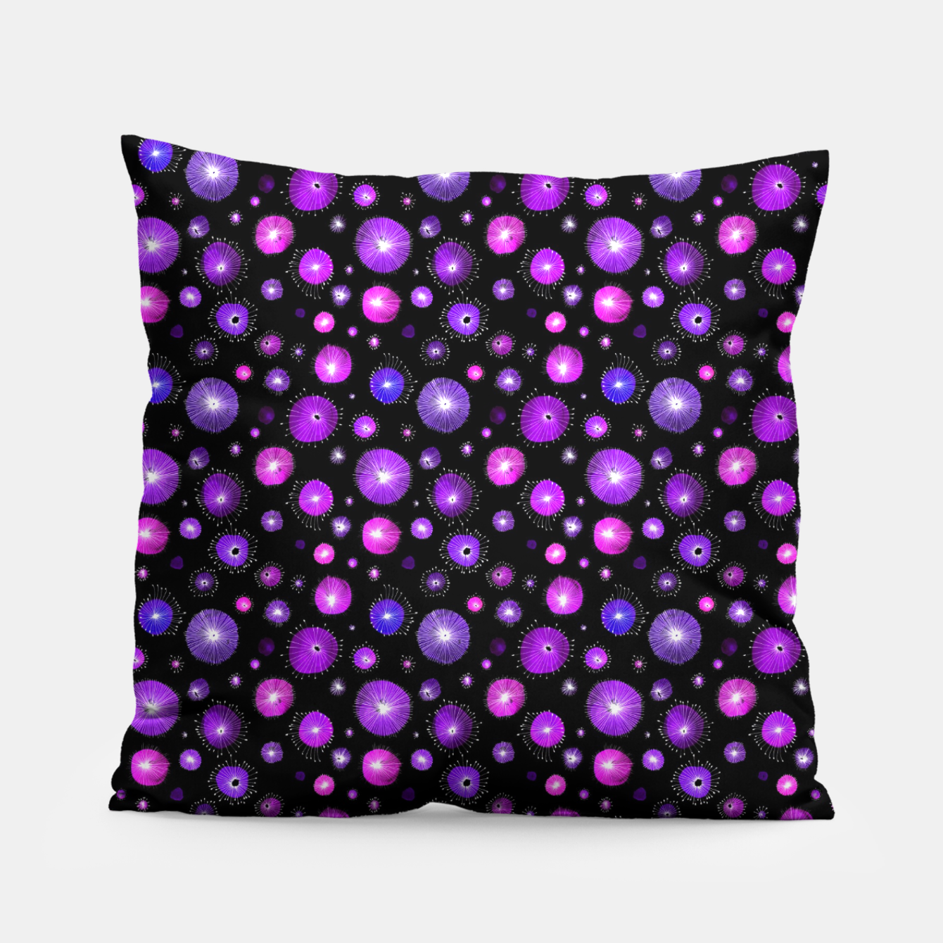 Image of Purple Flowers  Pillow - Live Heroes