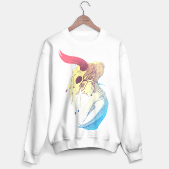 Miniatur Woman & Skull Color simple Sweater regular, Live Heroes