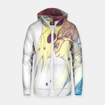 Thumbnail image of Woman & Skull Color simple Cotton zip up hoodie, Live Heroes