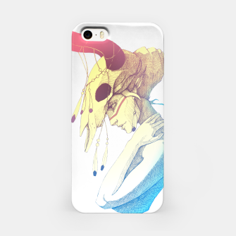 Imagen en miniatura de Woman & Skull Color simple iPhone Case, Live Heroes