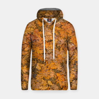 Thumbnail image of Leaves Motif Pattern Photo Cotton hoodie, Live Heroes