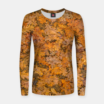 Thumbnail image of Leaves Motif Pattern Photo Woman cotton sweater, Live Heroes