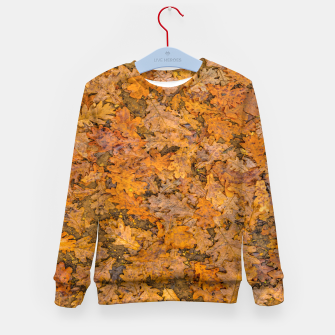 Thumbnail image of Leaves Motif Pattern Photo Kid's sweater, Live Heroes
