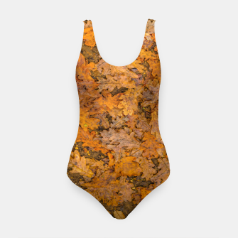 Thumbnail image of Leaves Motif Pattern Photo Swimsuit, Live Heroes