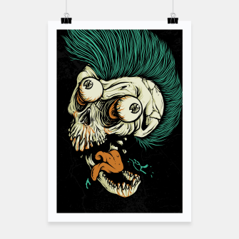 Miniatur Skull Punk Style Poster, Live Heroes