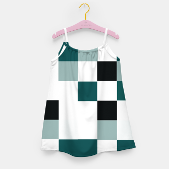 Miniatur Squares Girl's dress, Live Heroes