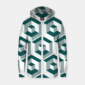 Thumbnail image of Infinity Cube Cotton zip up hoodie, Live Heroes