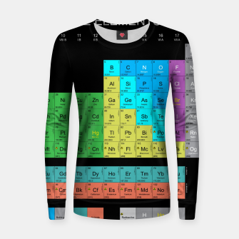 Thumbnail image of Periodic Table Of The Elements 1869s By Mendeleev Bluza bawełniana damska, Live Heroes