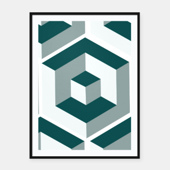 Miniatur Infinity Cube Framed poster, Live Heroes
