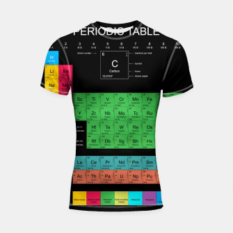 Thumbnail image of Periodic Table Of The Elements 1869s By Mendeleev Rashguard krótki rękaw, Live Heroes