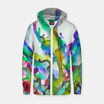 Tropical Plant Cotton zip up hoodie imagen en miniatura