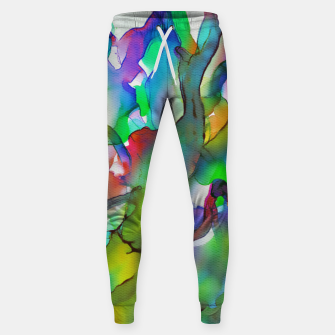 Tropical Plant Cotton sweatpants imagen en miniatura