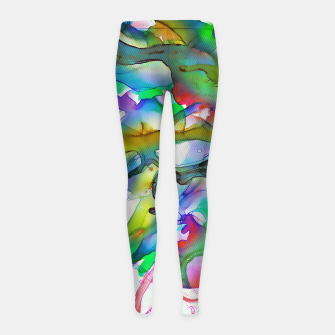 Tropical Plant Girl's leggings imagen en miniatura
