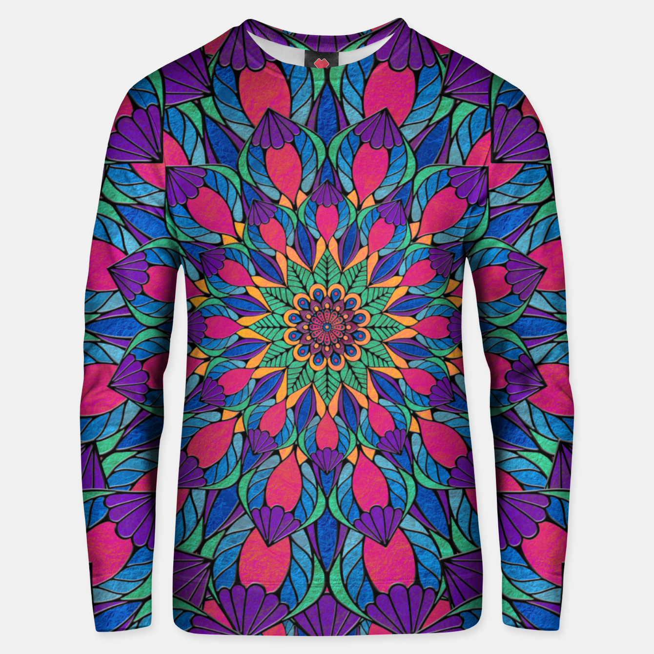 Imagen de Peacock Feather Mandala Cotton sweater - Live Heroes