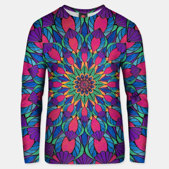 Peacock Feather Mandala Cotton sweater imagen en miniatura