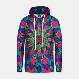 Peacock Feather Mandala Cotton hoodie imagen en miniatura