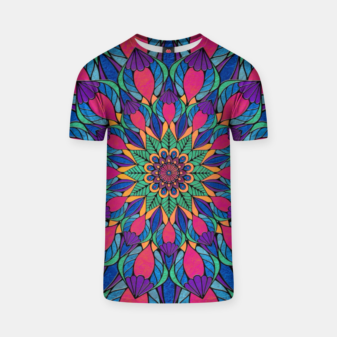 Imagen de Peacock Feather Mandala T-shirt - Live Heroes