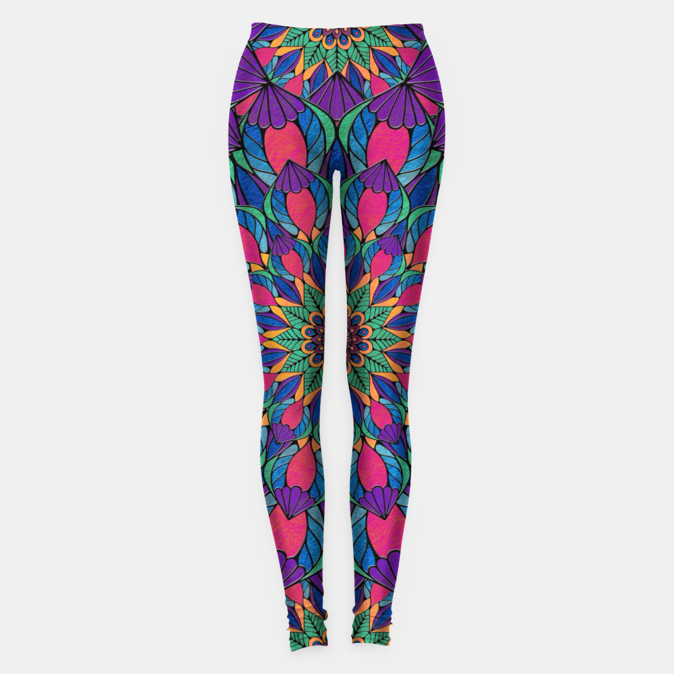 Imagen de Peacock Feather Mandala Leggings - Live Heroes
