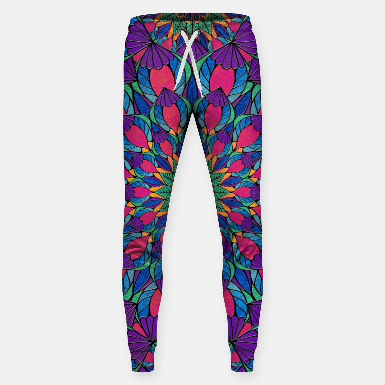 Imagen de Peacock Feather Mandala Cotton sweatpants - Live Heroes