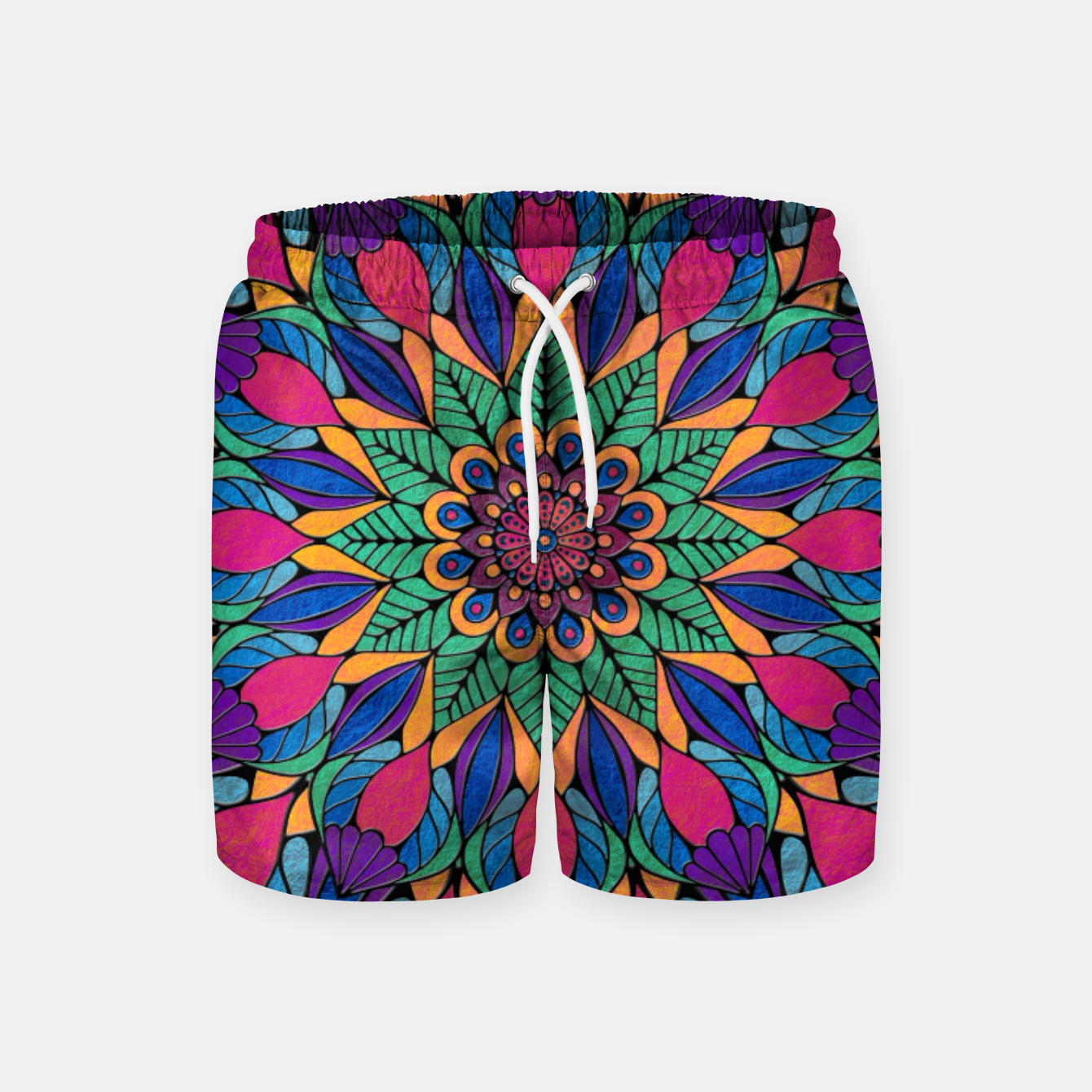 Imagen de Peacock Feather Mandala Swim Shorts - Live Heroes