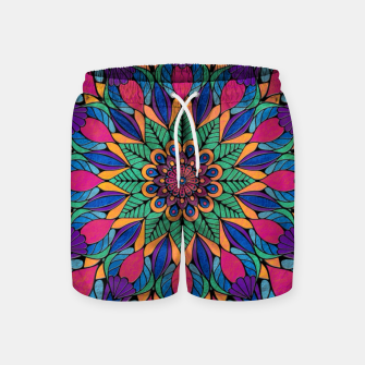 Peacock Feather Mandala Swim Shorts imagen en miniatura
