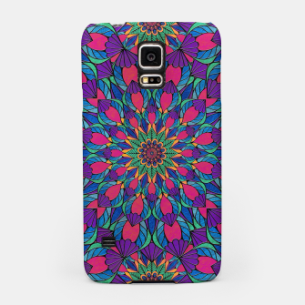 Peacock Feather Mandala Samsung Case imagen en miniatura