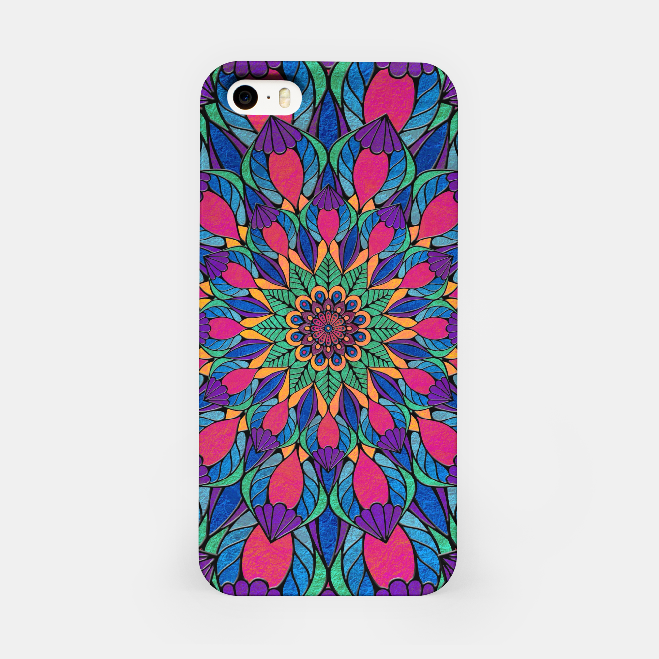 Imagen de Peacock Feather Mandala iPhone Case - Live Heroes